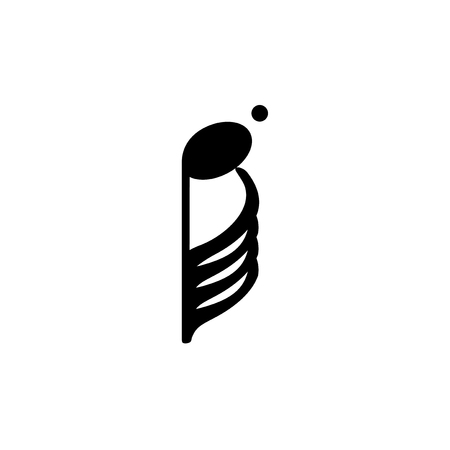 Illustration of a musical note
