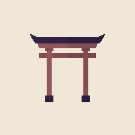 Illustration of a Torii gate