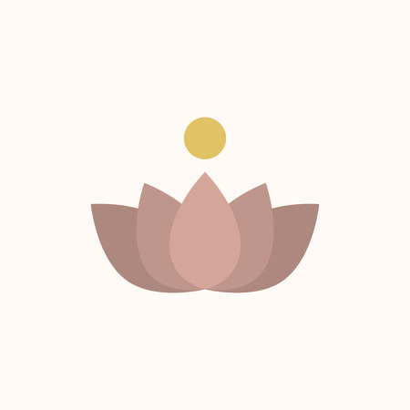 Illustration of a lotus flower isolated on a white background