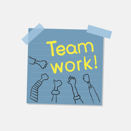 Teamwork and community note illustration Banco de Imagens
