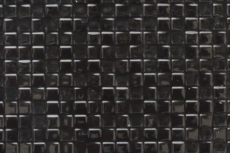 Black small squares textured background Banco de Imagens