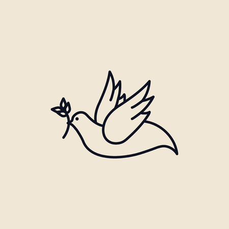Illustration of a dove of peace Banco de Imagens