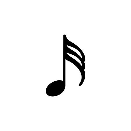 Illustration of a musical note isolated on a white background.