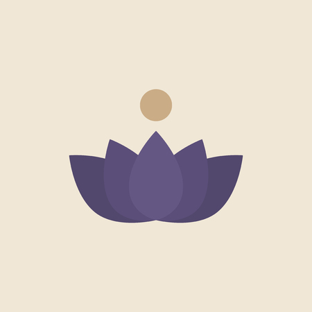 Illustration of a lotus flower 版權商用圖片