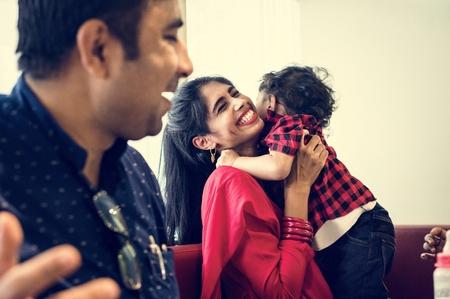 A happy Indian family Stock Photo