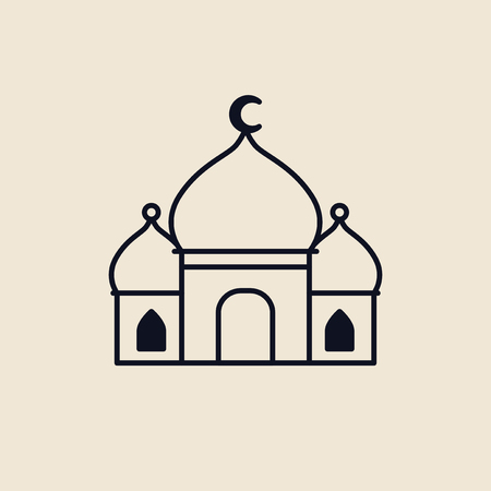Illustration of a islamic mosque Banco de Imagens