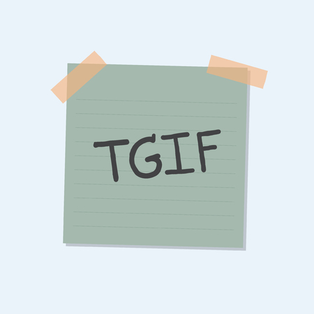 TGIF note illustration