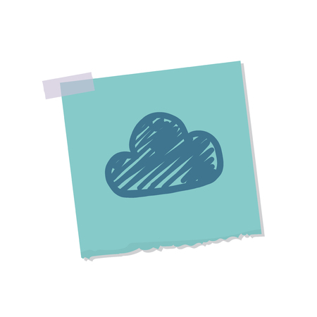 Cloud and weather note illustration Stock Photo