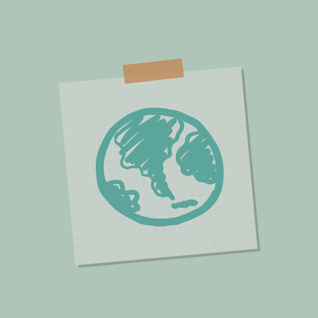 Go green global note illustration 스톡 콘텐츠
