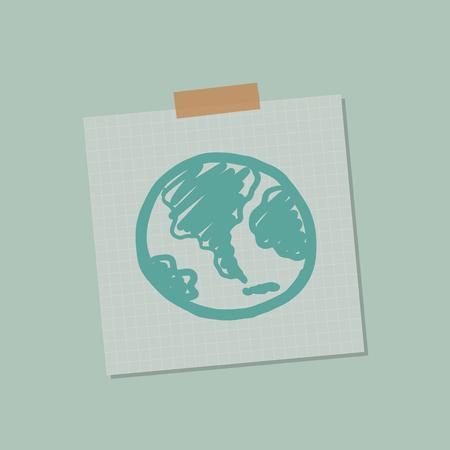 Go green global note illustration Stock Photo