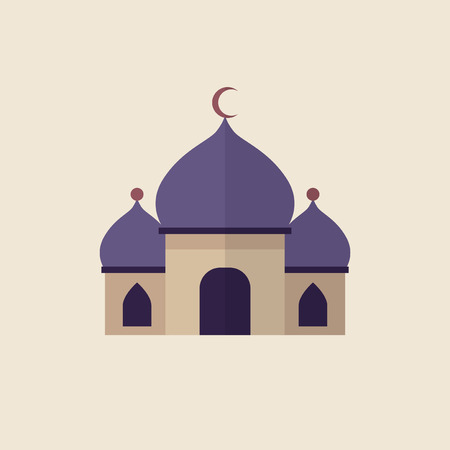 Illustration of a islamic mosque Imagens