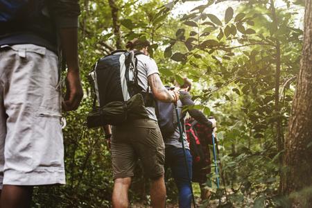 Trekking in a forest Stock fotó - 109688167