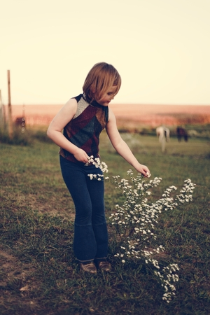 A young girl is having fun in the farm Stock Photo - 109688173