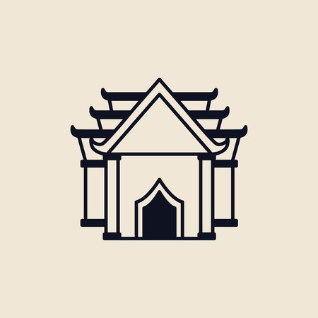 Illustration of a buddhist temple