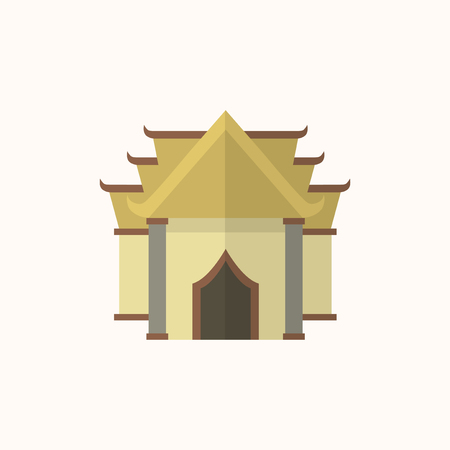 Illustration of a Buddhist temple isolated on a white background