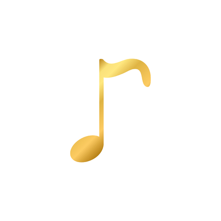 Illustration of a musical note isolated on a white background