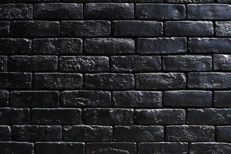 Black brick wall with design space
