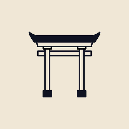 Illustration of a Torii gate Stok Fotoğraf - 109689992
