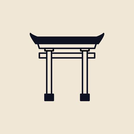 Illustration of a Torii gate Фото со стока - 109689992