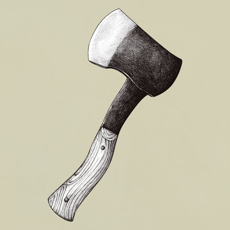 Old axe vintage style, vector illustration Stock fotó