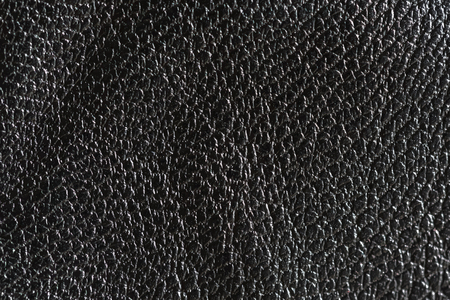 Black rough leather textured background Banque d'images