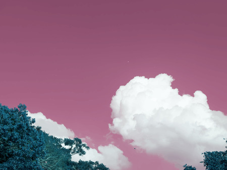 Negative color of a cloudscape