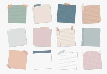 Raccolta di illustrazioni di note adesive