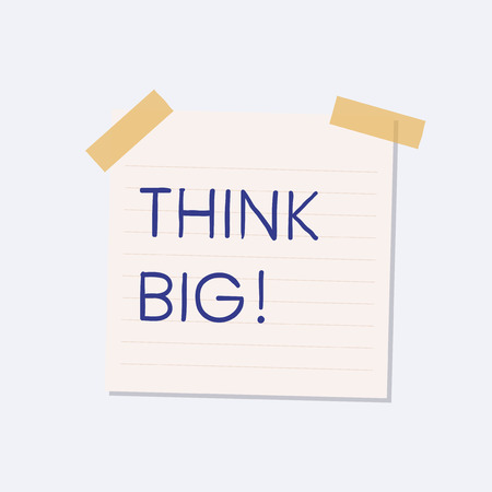 Think big sticky note illustration