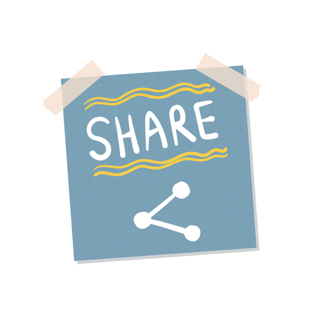 File sharing sticky note illustration Banco de Imagens