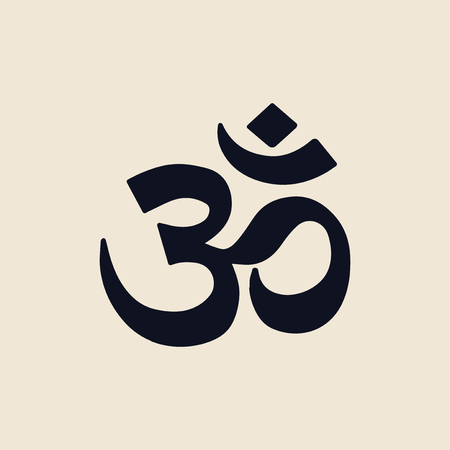 Illustraition of the Indian Om symbol