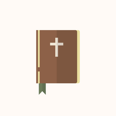 Illustration of a Christian bible isolated on a white background