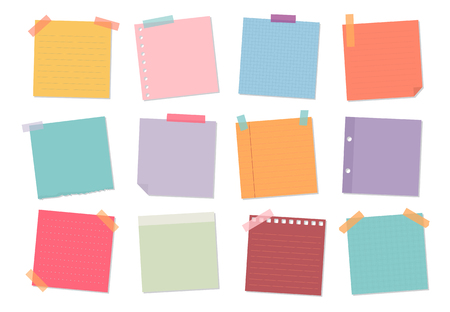 Collection of sticky note illustrations Фото со стока - 109713190