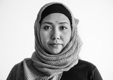 Monochrome view of a muslim woman