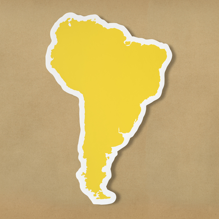 Blank map of South America 写真素材