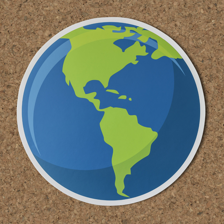 Cut out paper globe icon Stock Photo - 109637848