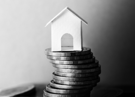 Macro shot of financial mortgage concept