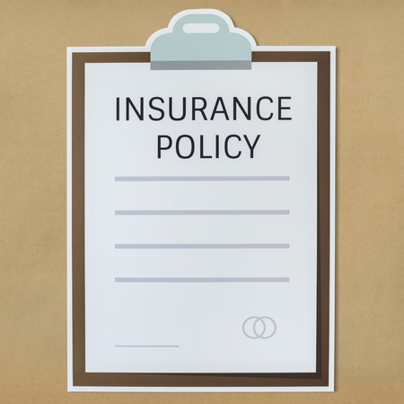 Insurance policy information form icon Stockfoto