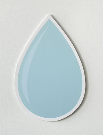 Water drop cut out icon 版權商用圖片 - 109638582