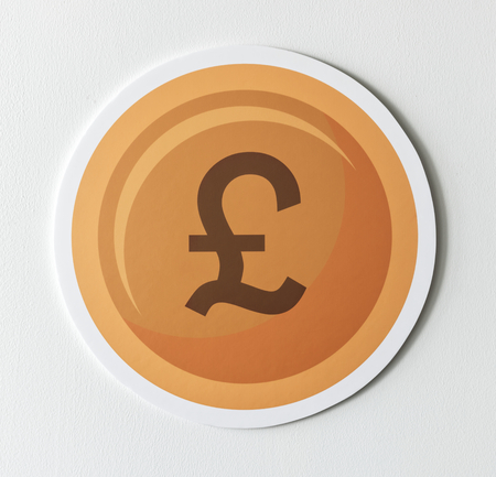 Pound sterling currency exchange icon Stock fotó