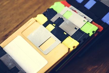 Old school floppy disk drive data storage Zdjęcie Seryjne