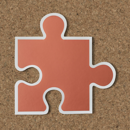Jigsaw puzzle piece strategy icon Stock Photo