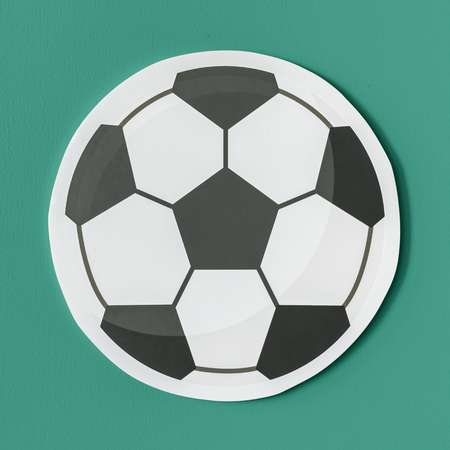 Cut out paper football graphic Banque d'images - 109641007