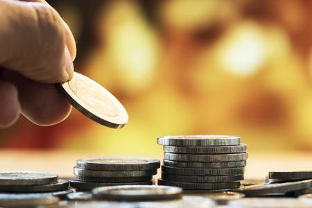 Makroaufnahme des Finanzkonzepts