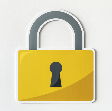 Privacy safety lock icon symbol Foto de archivo - 109641124