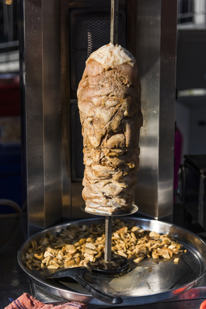 Doner kebab in a roasting spti