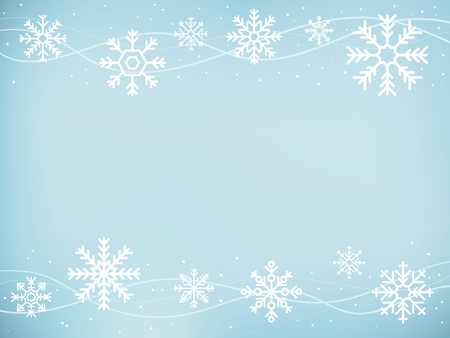 Illustration of cute snowflake icons Stok Fotoğraf