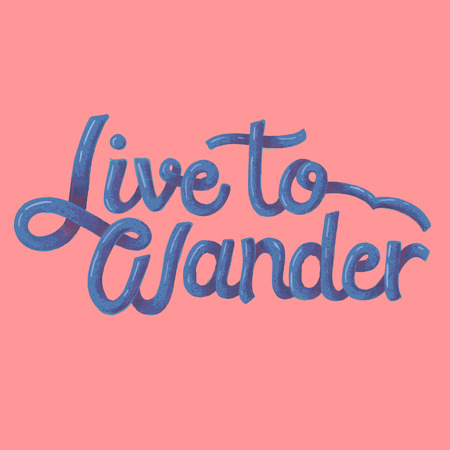 Live to wander quote on background Stockfoto