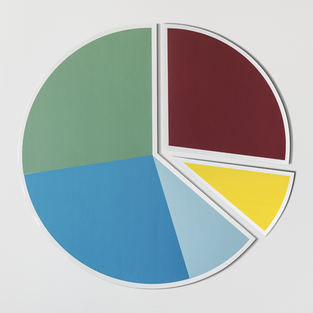 Data analysis pie chart icon Stock Photo