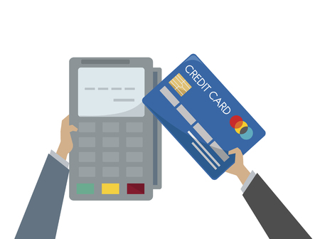 Illustration of credit card payment Foto de archivo - 109642441