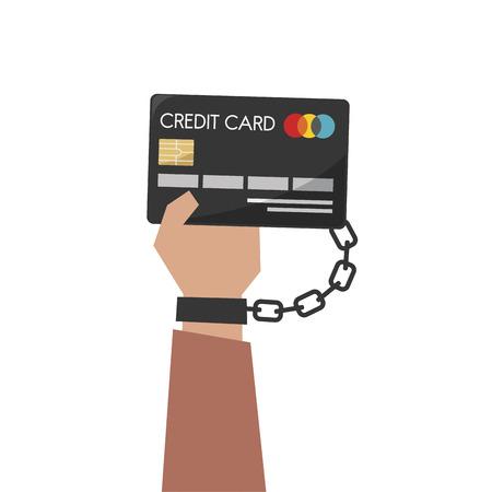 Illustration of hand holding a credit card Foto de archivo - 109642504
